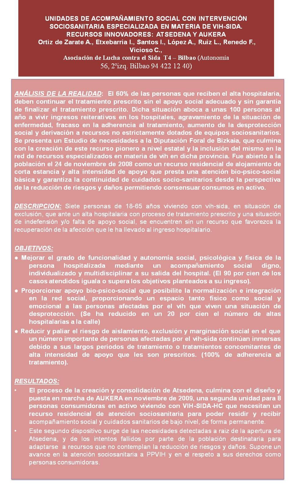 CENTROS RESIDENCIALES. Poster Seisida 2010 reducido.